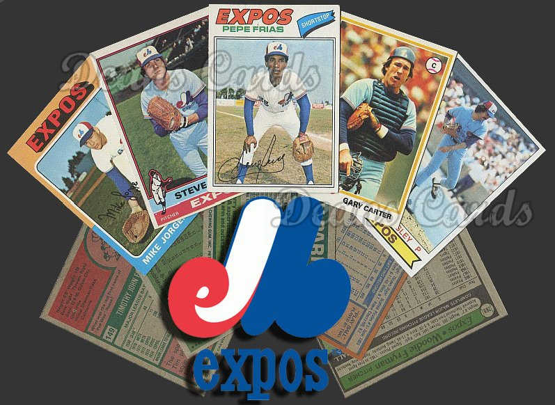 1975 Topps  -79  Montreal Expos 50 Card Team Starter Set / Lot